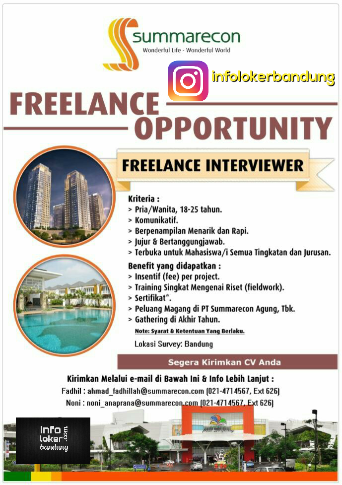 Freelance Opportunity PT. Summarecon April 2017