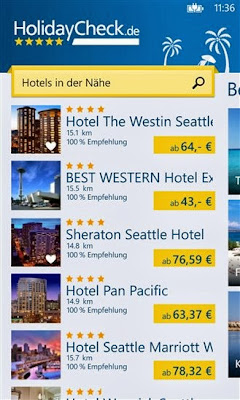 HolidayCheck for Windows Phone