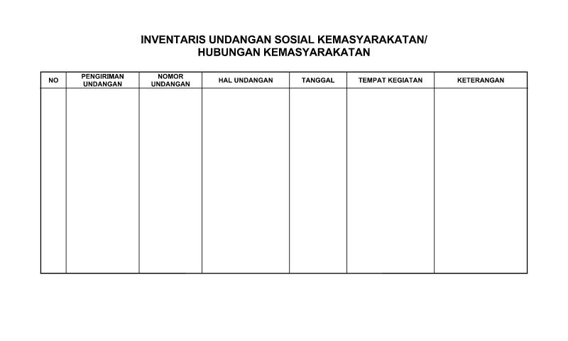 Contoh Format Bentuk Surat Undangan Inventaris Sosial Kemasyarakatan untuk Perlengkapan untuk Perlengkapan Administrasi TU (Tata Usaha) Sekolah