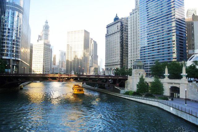 Passeios no rio em Chicago