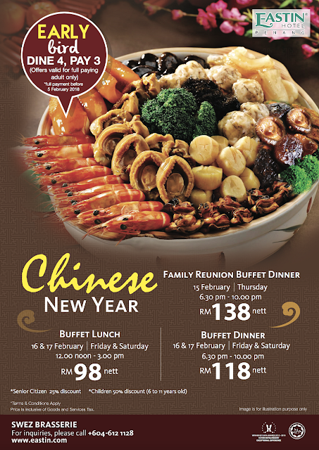 Eastin Hotel Chinese New Year 2018 Buffet