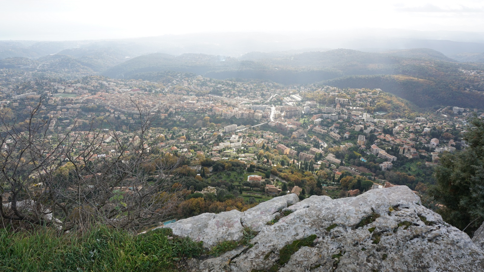 Vence seen from Baou des Blancs
