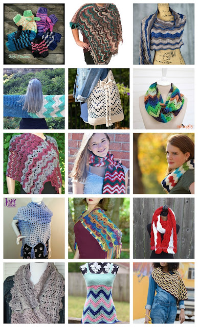 cefb80c29bfed 15 (Mostly Free) Crochet Patterns for Chevrons and Ripple Accessories