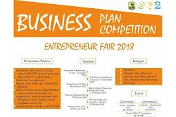 Contest Business Plan Competition Entreprener Fair 2018