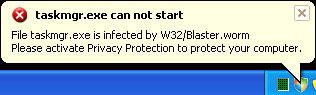 Virus W32/Blaster.Worm Removal Guide for Windows Vista Users