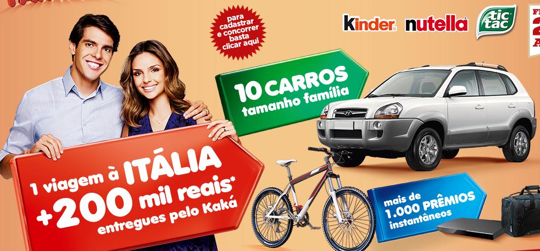 promoção-Kinder Ovo, Nutella e Tic Tac