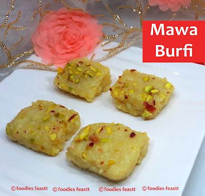 Mawa Burfi or Khoya Burfi