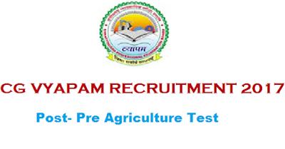 CGVYAPAM Recruitment 2017 for PAT 2017 at Chhattisgarh Last Date : 03-05-2017