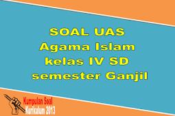 SOAL UAS Agama Islam kelas IV SD semester Ganjil