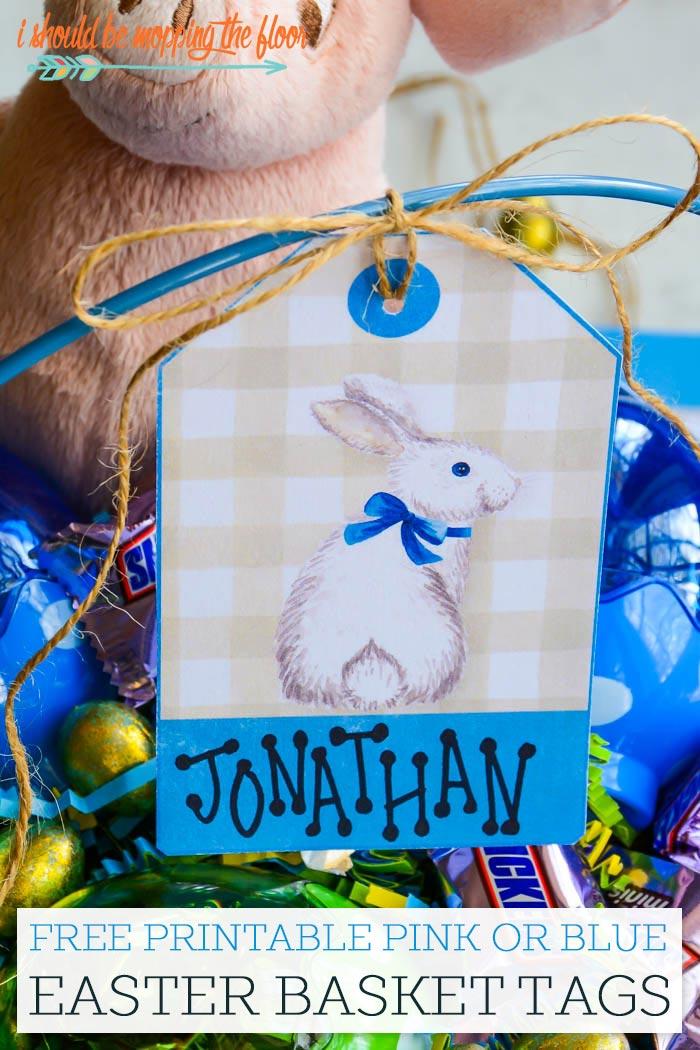 Free Easter Bunny Printable Gift Tag