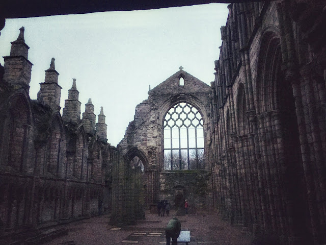 Holyrood Abbey, next to the Palace of Holyrood House, Edinburgh, Scotland