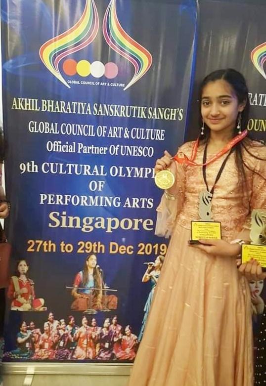 Jhabua News-थांदला की इशानी ने सिंगापुर में जीता गोल्ड मेडल