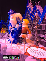 Santa Claus & the Winter  Warlock . ICE at the Gaylord Texan Resort, Grapevine, Texas. Travel Boldly