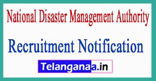 National Disaster Management Authority NDMA Recruitment Notification