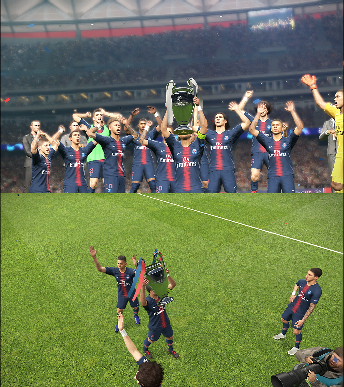 PES 2019 UCL Celebration with Trophy by FuNZoTiK