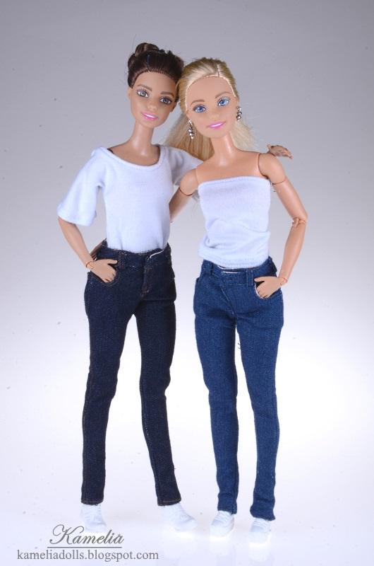 Jeansy dla lalek Barbie.