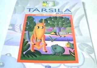 Imagem de um livro da editora Moderna sobre as obras de tarcila do Amaral.