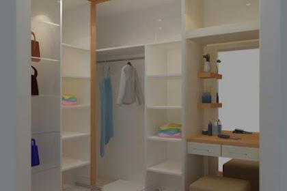 Jasa gambar desain walk in closet meja rias lemari baju tas murah berpengalaman