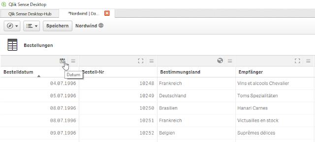 Qlik Sense Datamanager Date