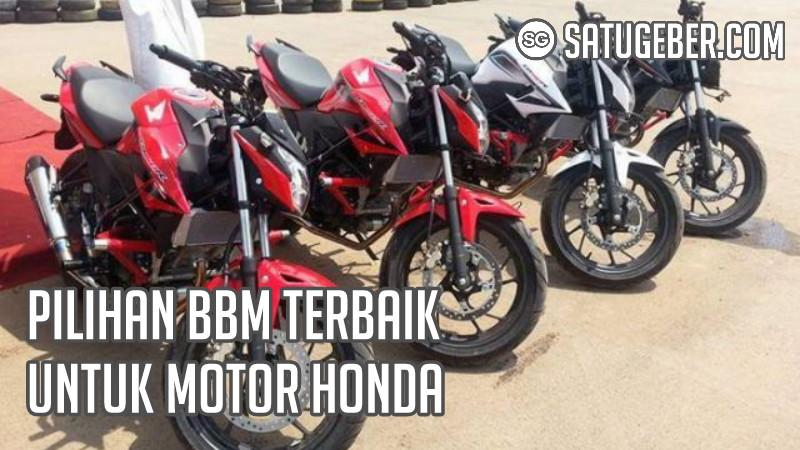 foto bahan bakar bensin ideal motor Honda matic, trail, sport dan bebek