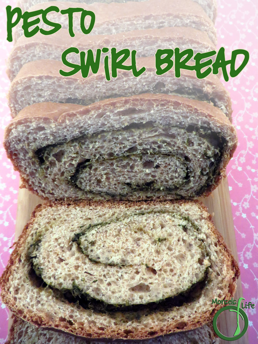 Morsels of Life - Pesto Swirl Bread - A savory pesto swirl bread with loads of flavor.
