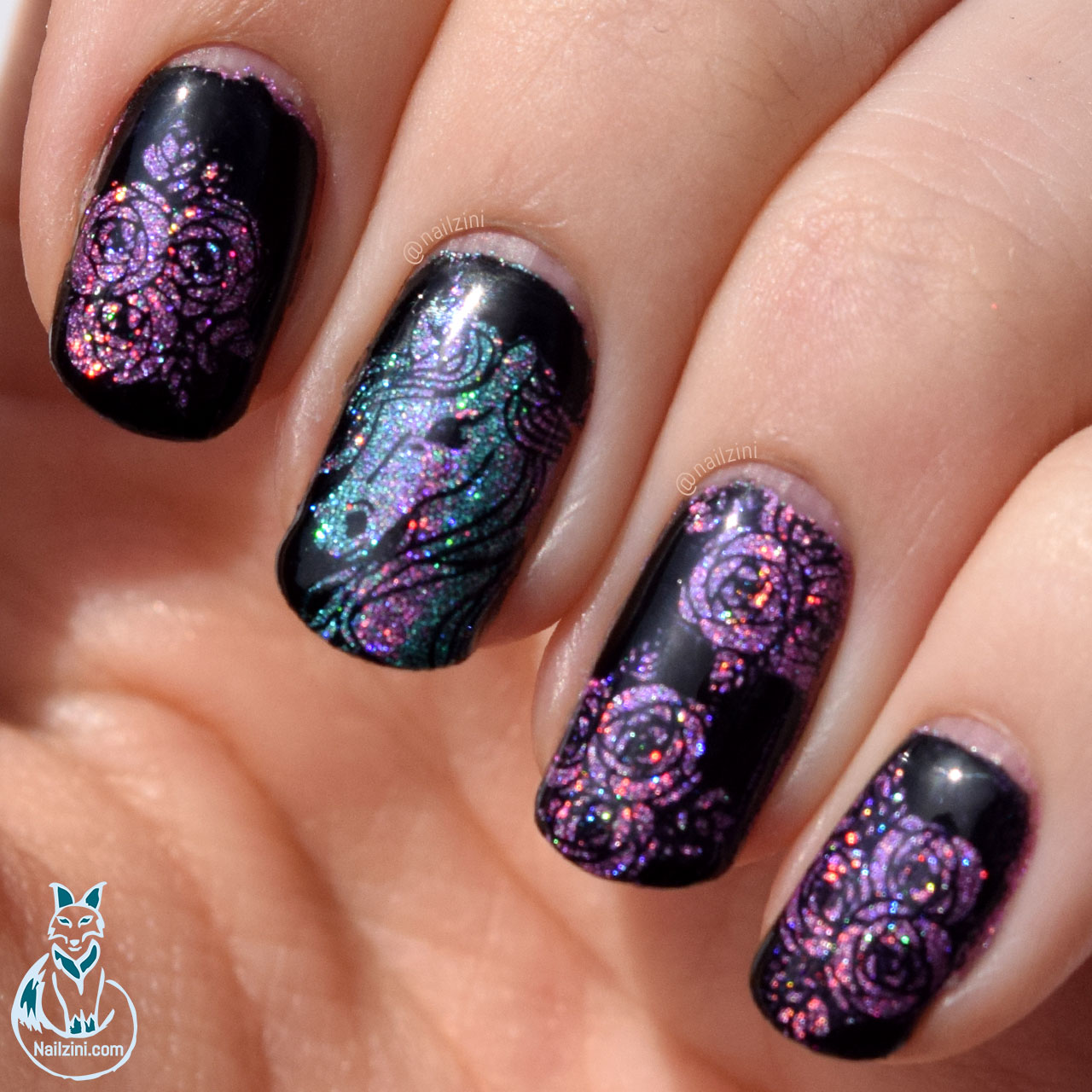 Holographic Unicorn Nail Art Nailzini A Nail Art Blog