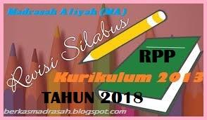 Silabus PAI dan Bahasa Arab MA/MAK Kelas X Kurikulum 2013 Tahun 2018