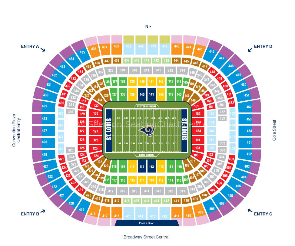 Edward Jones Dome Seating Chart