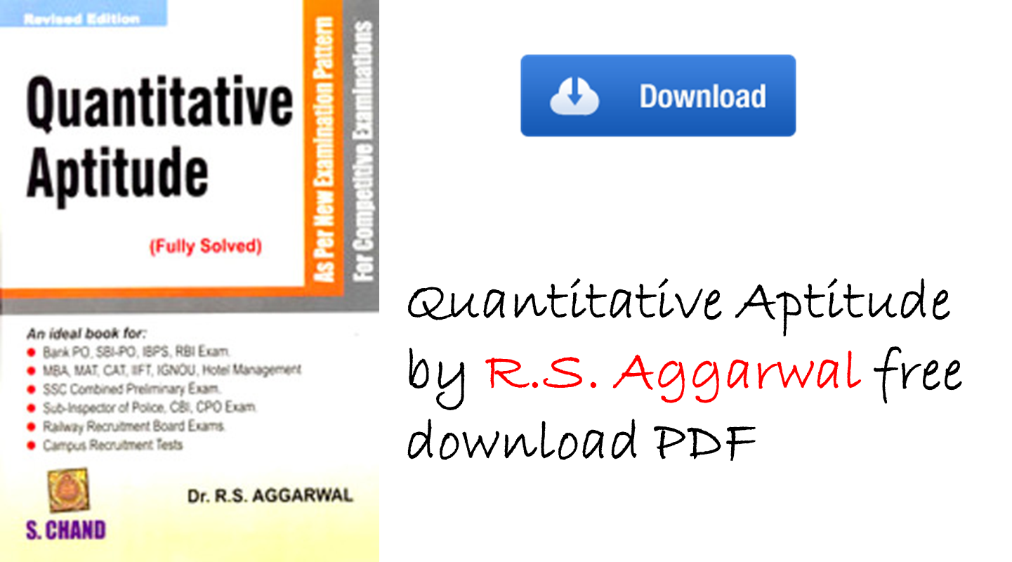 RS Aggarwal Quantitative Aptitude - Download Book pdf