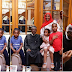 President Buhari captured with his children and grand Buhari after he arrives Aso rock