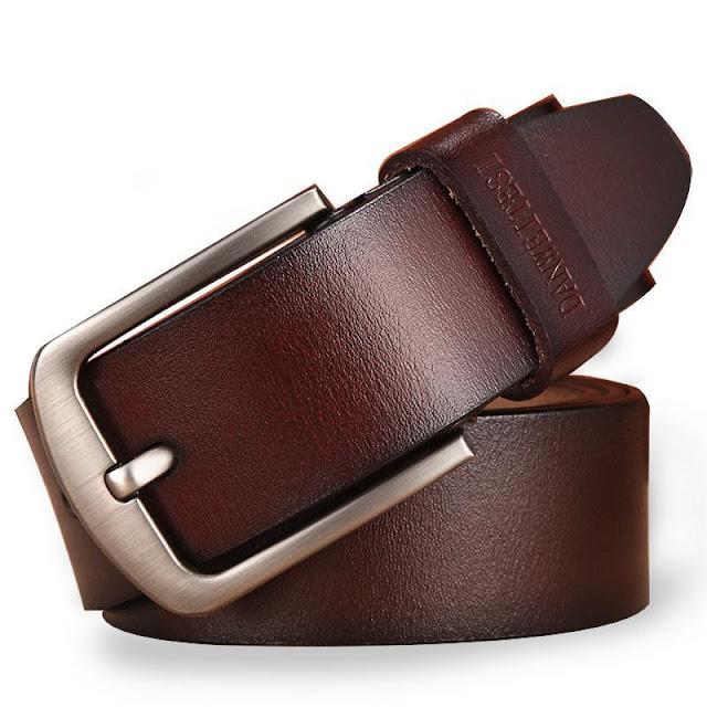 Men's Classic Leather Pin Buckle Belt