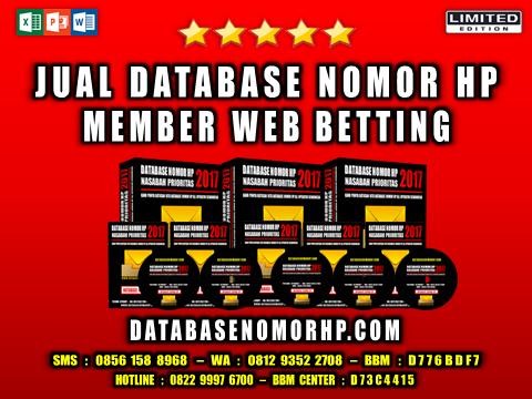Jual Database Nomor HP Member Web Betting