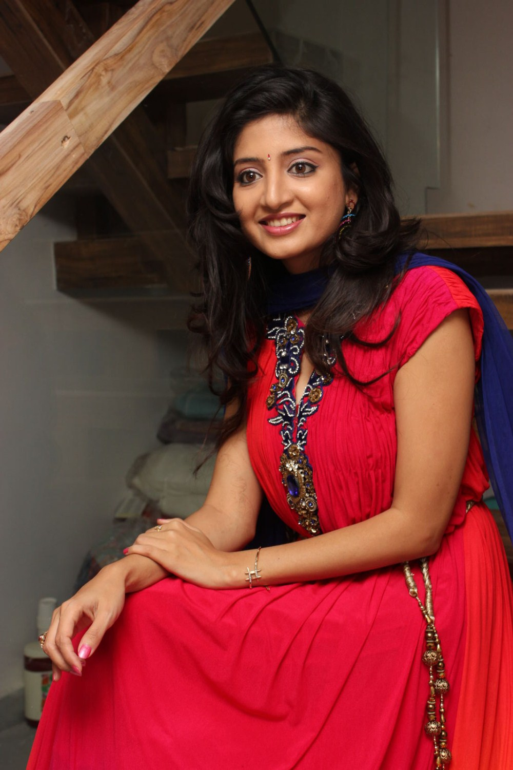 Tollywood Actress Poonam Kaur Stills In Red Dress