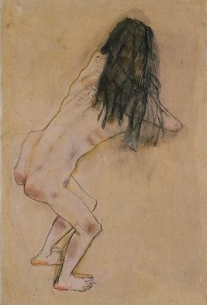 study of back by Oskar Kokoschka