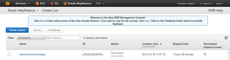 Big Data and Cloud Tips: Imapala vs Hive performance on Amazon AWS EMR