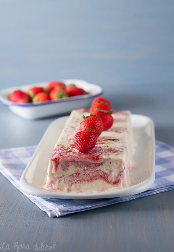 Biscuit de cheesecake de fresas | sin lactosa y sin heladera | la Rosa dulce