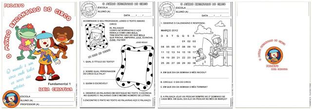 Caderno Projeto Circo Fundamental 1