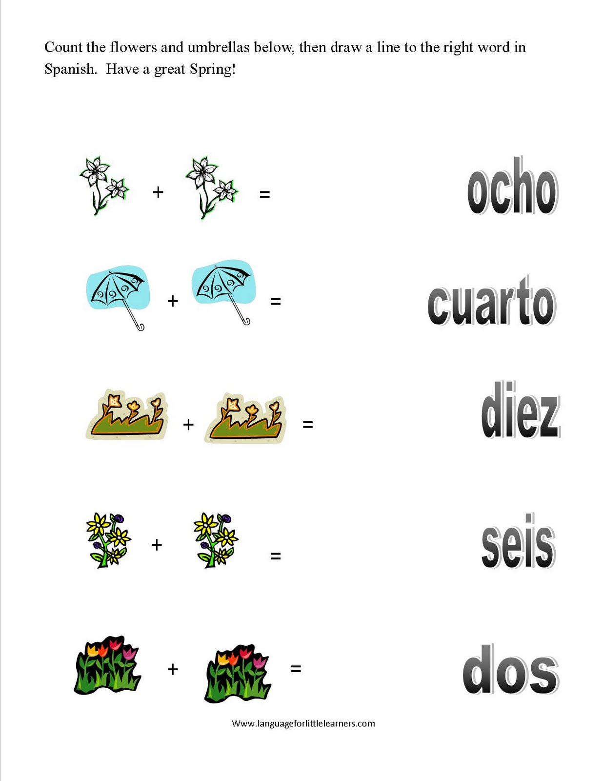 Spanish For Little Learners March