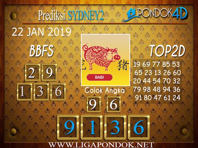 Prediksi Togel SYDNEY2 PONDOK4D 22 JANUARI 2019