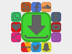 Black Edgeless Detail Social Buttons