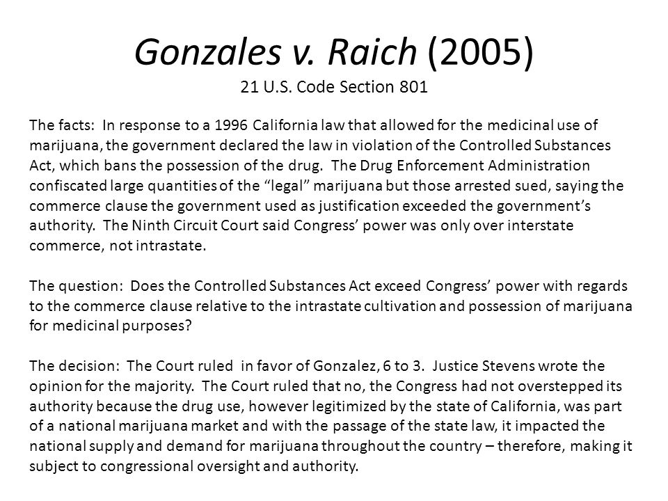 gonzales v oregon Findlaw: ashcroft v  alaska, colorado, hawaii, maine, montana, nevada,  oregon, vermont and washington  the case is gonzales v.
