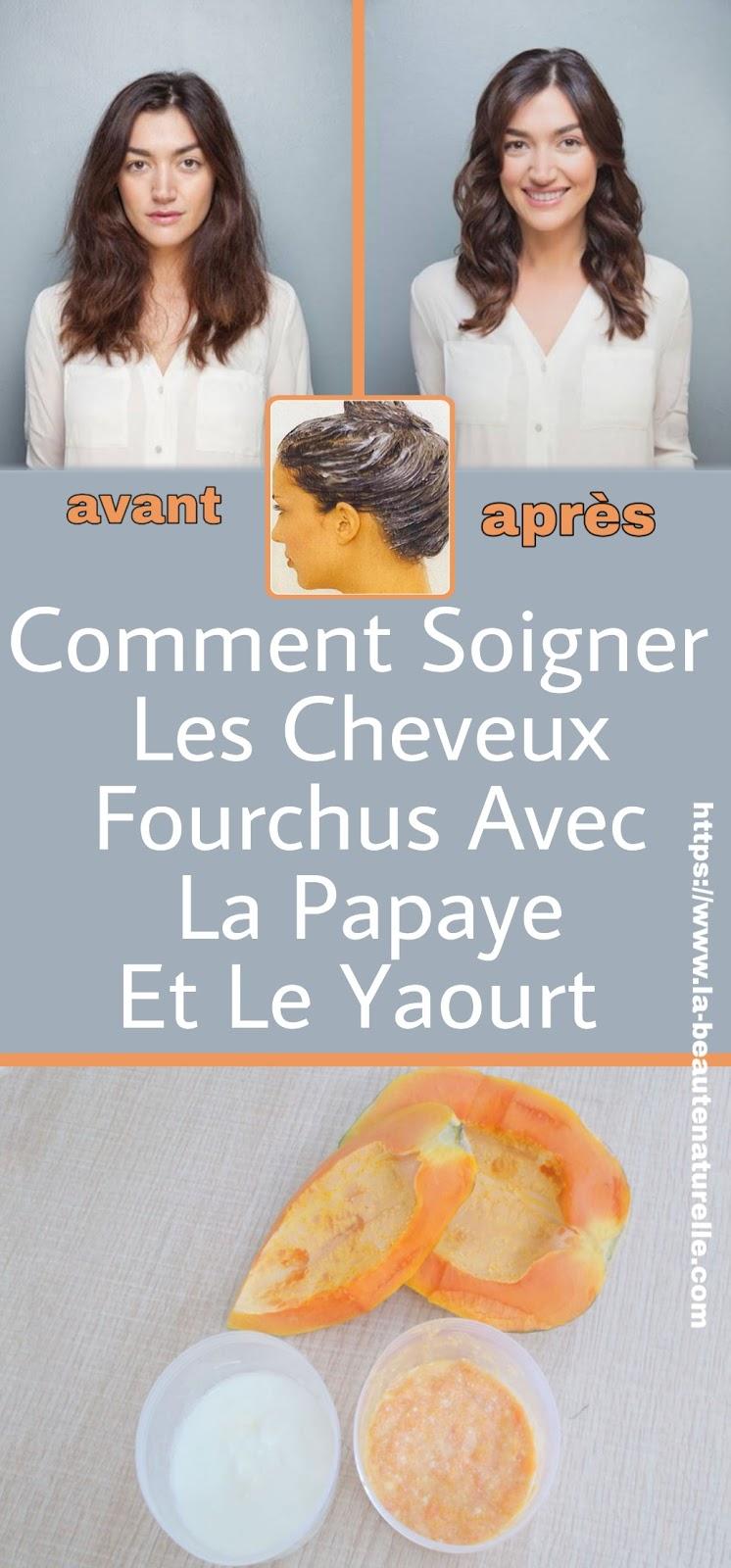Comment Soigner Les Cheveux Fourchus Avec La Papaye Et Le Yaourt