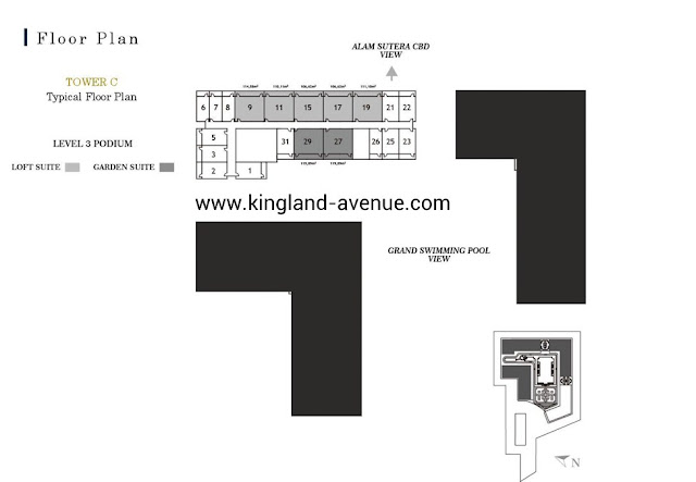 Floor Plan Kingland Avenue Serpong Loft Suite