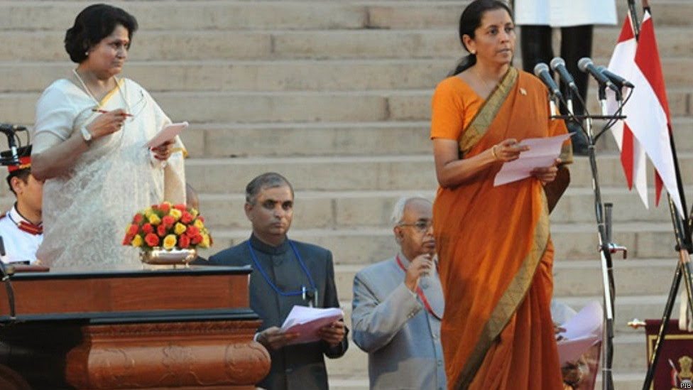 women ministers in modi cabinet के लिए चित्र परिणाम