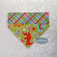 Easter Puppies Over the collar Dog Bandanas