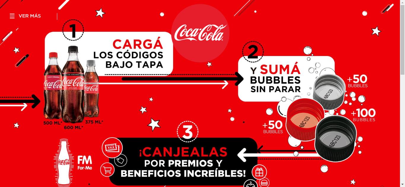 Promoción Coca Cola Tapas Blancas 2018