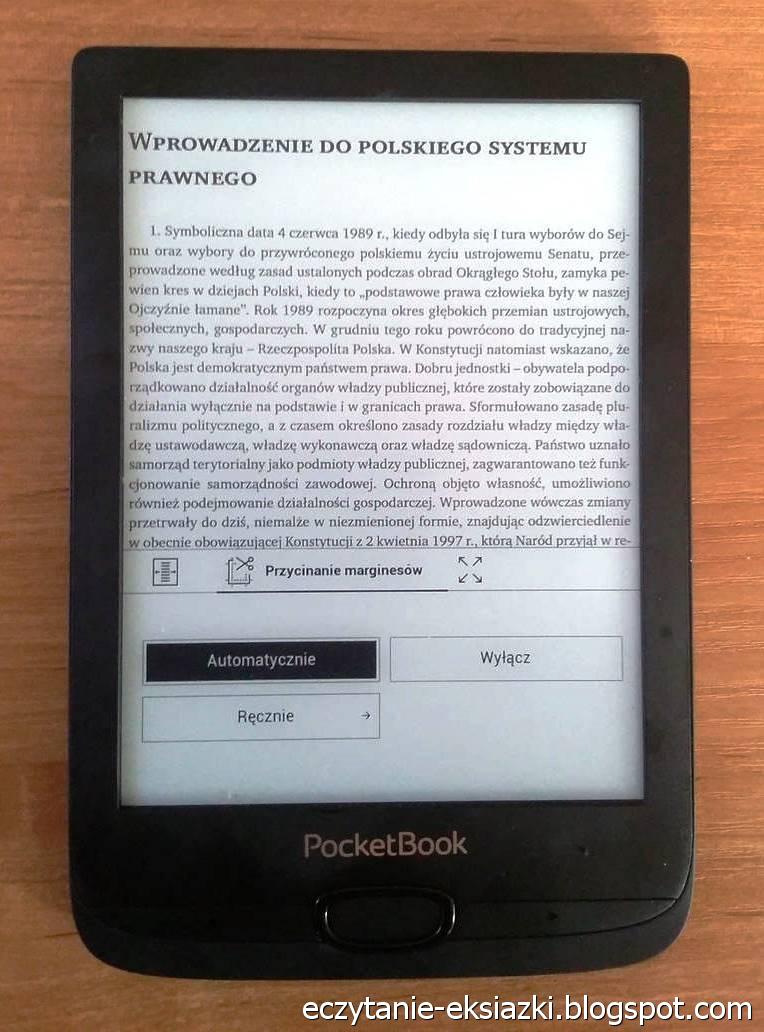 PocketBook Basic Lux 2 – plik PDF po automatycznym przycięciu marginesów