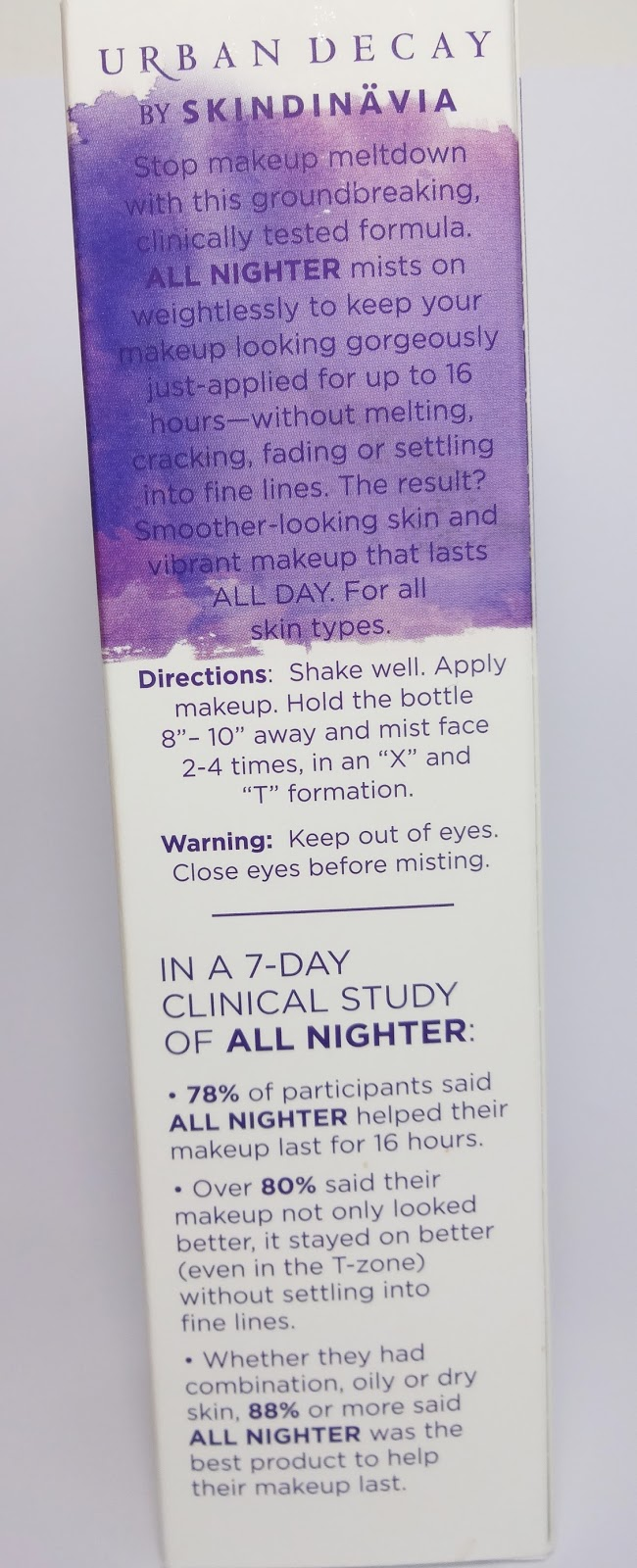 Urban Decay -  All Nighter Long-Lasting Makeup Setting Spray Verpackung
