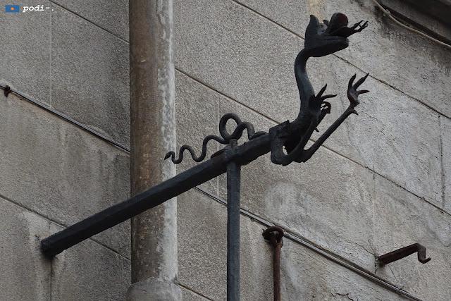 Dragón Polea en el paseo del Borne, Barcelona