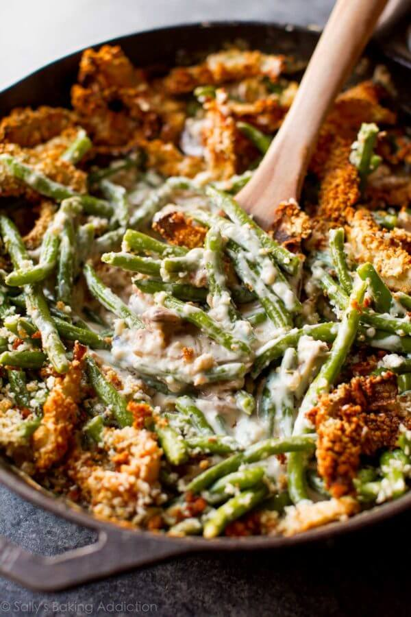 Thanksgiving Side Dish Recipe: Creamy Green Bean Casserole From Scratch by Sally's Baking Addiction